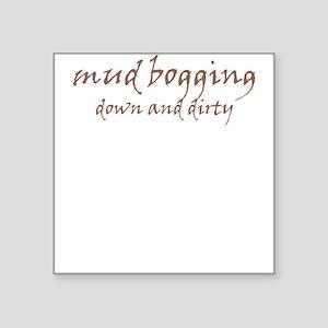 """Mud Bogging Square Sticker 3"""" x 3"""""""
