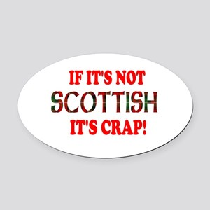 notscottishbw Oval Car Magnet
