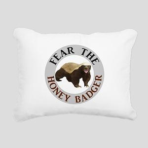 Honey Badger Fear Rectangular Canvas Pillow