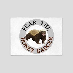 Honey Badger Fear 5'x7'Area Rug
