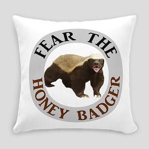 Honey Badger Fear Everyday Pillow