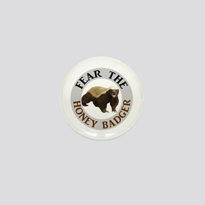 Honey Badger Fear Mini Button