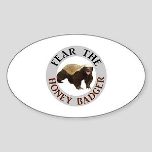 Honey Badger Fear Sticker (Oval)