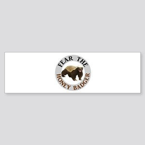 Honey Badger Fear Sticker (Bumper)