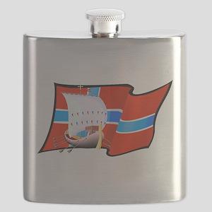 Norwegian Viking Ship Flask