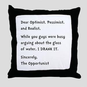 Opportunist Throw Pillow