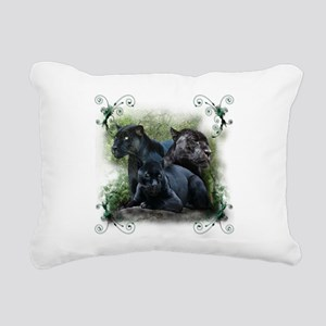 3-black jaguar Rectangular Canvas Pillow