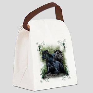 3-black jaguar Canvas Lunch Bag