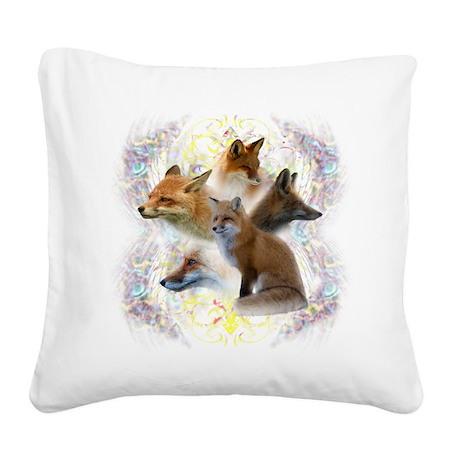 Foxy.jpg Square Canvas Pillow