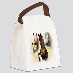 Horses Canvas Lunch Bag