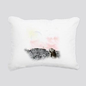 snow leopard mouse Rectangular Canvas Pillow