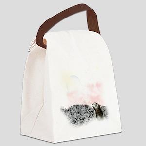 snow leopard mouse Canvas Lunch Bag