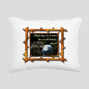 chimps planet Rectangular Canvas Pillow