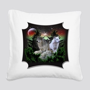 northernwolves Square Canvas Pillow