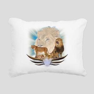 Lions Rectangular Canvas Pillow