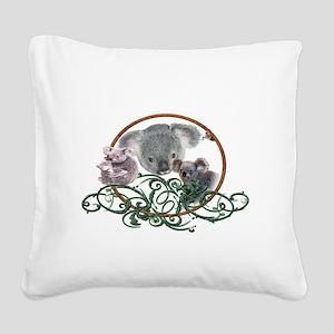 koala Bear Square Canvas Pillow
