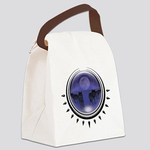 3-crystalball-wolves-blue Canvas Lunch Bag