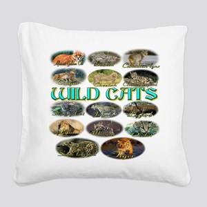 wildcats Square Canvas Pillow