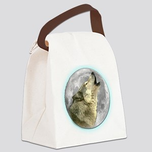 Wolf Canvas Lunch Bag