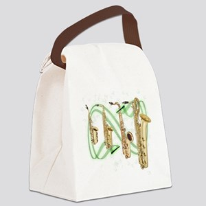 Saxophones Canvas Lunch Bag