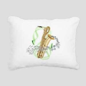 BaritoneSaxophone Rectangular Canvas Pillow
