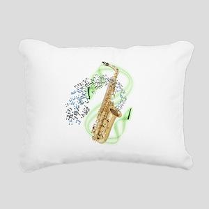 SapranoSaxophone Rectangular Canvas Pillow