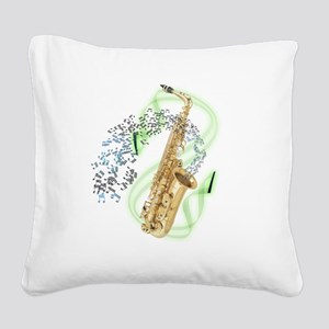 SapranoSaxophone Square Canvas Pillow