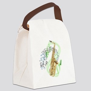 SapranoSaxophone Canvas Lunch Bag
