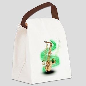 Saxophone wrap Canvas Lunch Bag