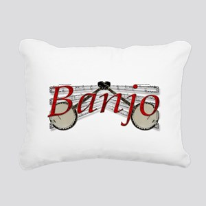 banjo Rectangular Canvas Pillow