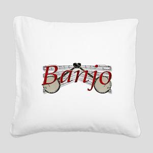 banjo Square Canvas Pillow