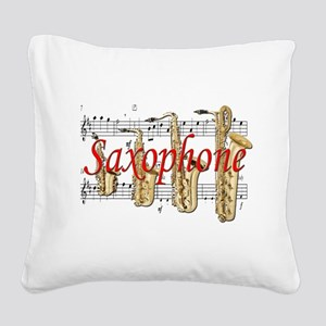saxophone Square Canvas Pillow