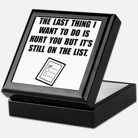 Hurt You List Keepsake Box