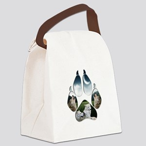 Wolf Print Canvas Lunch Bag