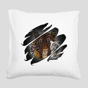 2-seethru-tiger2 Square Canvas Pillow