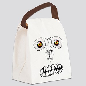 Halloween Face Canvas Lunch Bag
