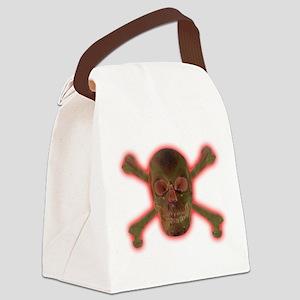 SkullCrossbones Canvas Lunch Bag