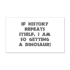 History Repeats Dinosaur Wall Decal