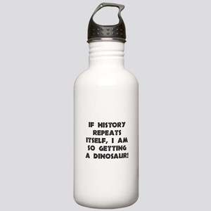 History Repeats Dinosaur Stainless Water Bottle 1.