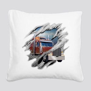 trucking Square Canvas Pillow