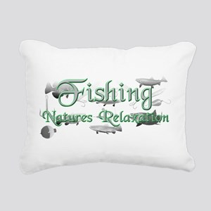 fishing Rectangular Canvas Pillow