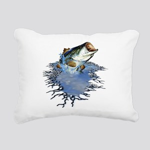 bassfishing Rectangular Canvas Pillow