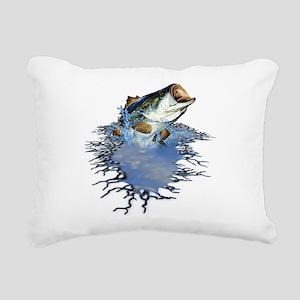 bassfishing Rectangular Canvas Pillow