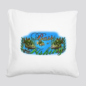 Bass Square Canvas Pillow