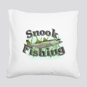 bass fishing Square Canvas Pillow