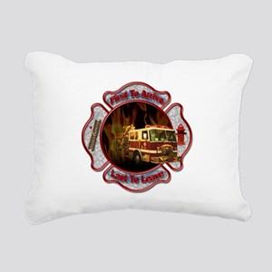 Firefighters Rectangular Canvas Pillow