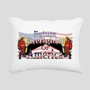 firefighter Rectangular Canvas Pillow