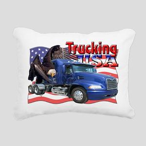 Trucking6 Rectangular Canvas Pillow