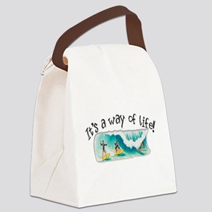 3-Surfing Canvas Lunch Bag