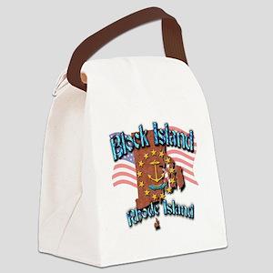 Block Island Canvas Lunch Bag